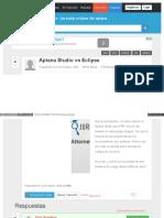 Aptana Studio vs Eclipse