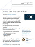 Financial Career Options for Professionals