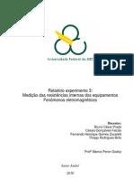 Relatório_Exp3_Medição das resistências internas dos equipamentos_Fenômenos Eletromagnéticos_Trim2.1