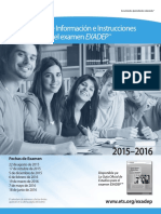Exadep 2015-2016 Information Registration Bulletin Es