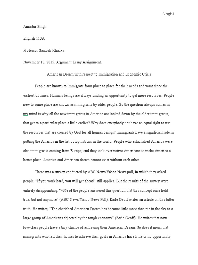 the american dream essay examples Background essay what is the american dream james truslow adams, in his book the epic of america, which was written in 1931, stated that the american dream is that dream of a land in which life should be better and richer and fuller for everyone, with opportunity for each according to ability or achievement.