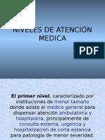 4. Niveles de Atención Medica
