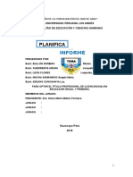 Informe Planificacion Educativa