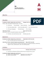 anthony haynes-internship resume1