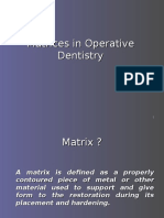 Matrices in Operative Dentistry
