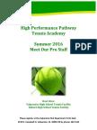 2016 summer tennis brochure pro staff - valparaiso