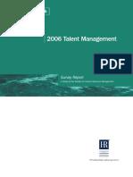 2006 Talent Management Survey Report