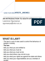 01_law for Architects- Intro to Sa Law