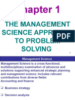 The Management Science Approach, Chapter 1