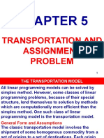 Transportation and Assignment Problem, Chapter 5