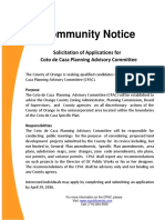 Coto de Caza Planning Advisory Committe (CPAC) Community Notice and Application