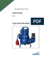 KSB - Submersible Pump - Ama Porter 501 SE