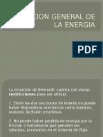 Ecuacion de La Energia