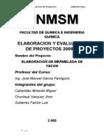Proyecto Elaboracion de Mermelada de Yacon