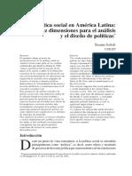 La Politica Social en America Latina Diez Dimensiones Para El Analisis y El Diseño de Politicas Susana Sottoli