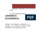 Dinamica Economca y Calculo Integral Final R
