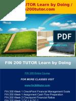 FIN 200 TUTOR Learn by Doing - Fin200tutor.com