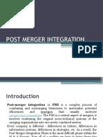 Post Merger Integration