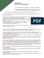 CHI MEI V260B1-L04 Lcd Panel Repair Info