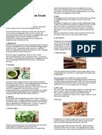 Tingkatkan Daya Konsentrasi Dengan Konsumsi 9 Makanan Enak Ini