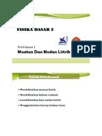 1. Muatan & Medan Listrik (MP)
