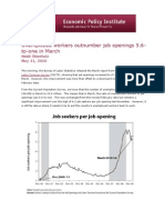 Unemployed workers outnumber job openings 5.6-to-one in March