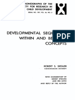 Developmental Sequences Within and Between Concepts