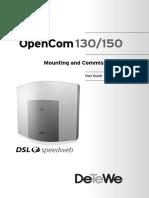 OpenCom 130 150 Install