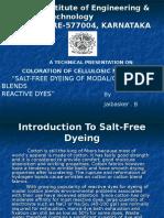 Salt Free Dyeing