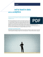 The Need to Lead in Data and Analytics