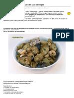 Alcachofas en Salsa Verde Con Almejas