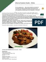 Alitas Con Verduras Horno Fussion Cook Dieta