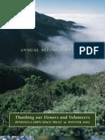 Landscapes Newsletter, Winter 2001 ~ Peninsula Open Space Trust