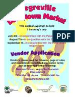 Vendor Info Downtown Market