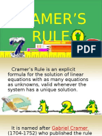 cramers rule