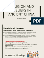 less 5 religion and beliefs in ancient china
