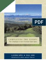 Landscapes Newsletter, Fall 1999 ~ Peninsula Open Space Trust