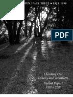 Landscapes Newsletter, Fall 1998 ~ Peninsula Open Space Trust