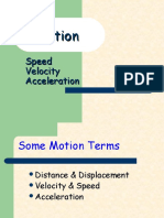 Motion - Speed Velocity and Acceleration