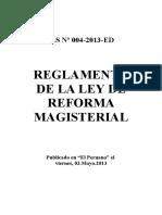 Reglamento de Ley Nº 29944 -reforma magisterial.doc