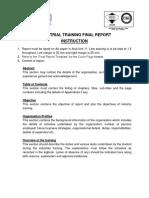 Final Report Instruction