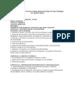 Propuesta de Protocolo Para Investigación Acción