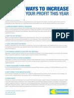 20 Ways to Increase Profit
