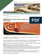 Aminoacido Taurina Para La Vision y La Infertilidad Masculina