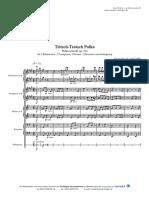 Tritsch-Tratsch-Polka (Johann Strauß) [2Kl,2Hr,2Tr,2Ps,Schlgz]