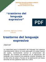 Trastorno de Lenguaje Expresivo