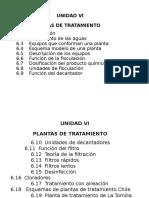 Unidad IV Plantas de Tratamiento