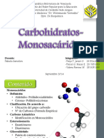 Metabolismo de  Carbohidratos- Monosacáridos