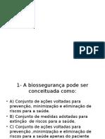 Exercício Biosegurrança