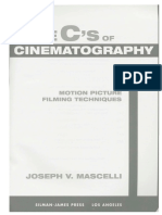 Five C's of Cinematography - Joseph v. Maschelli